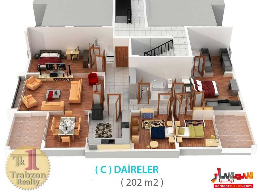 Photo 3 - Apartment 4 bedrooms 3 baths 220 sqm lux For Sale yomra Trabzon