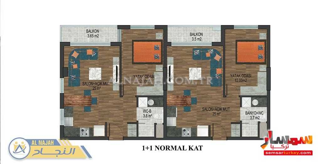Photo 7 - Apartment 1 bedroom 1 bath 65 sqm super lux For Sale Konyaalti Antalya