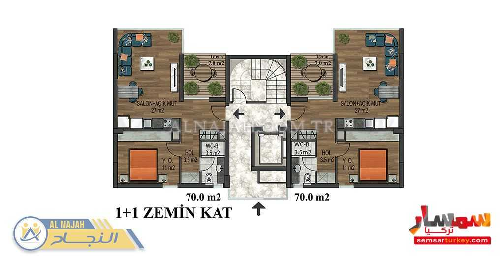 Photo 8 - Apartment 1 bedroom 1 bath 65 sqm super lux For Sale Konyaalti Antalya