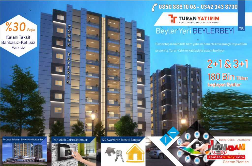 Ad Photo: Apartment 2 bedrooms 1 bath 130 sqm super lux in Gaziantep