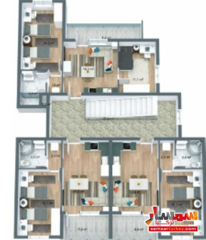 صورة 14 - 537 sqm 3 floor 9 apartments with furniture للبيع تشوبوك أنقرة
