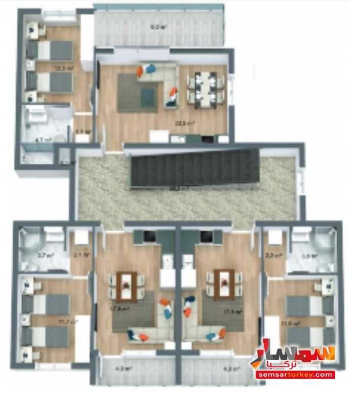 صورة 15 - 537 sqm 3 floor 9 apartments with furniture للبيع تشوبوك أنقرة